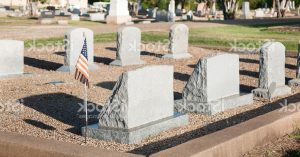 row of graves