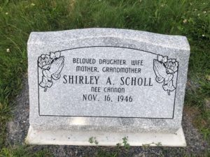 Shirley A. Scholl grave stone