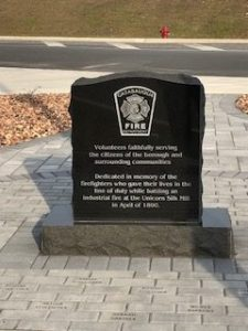 Catasauqua fire memorial stone