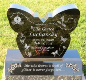 Ella Grace Luchansky headstone