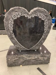 blank heart shaped tombstone